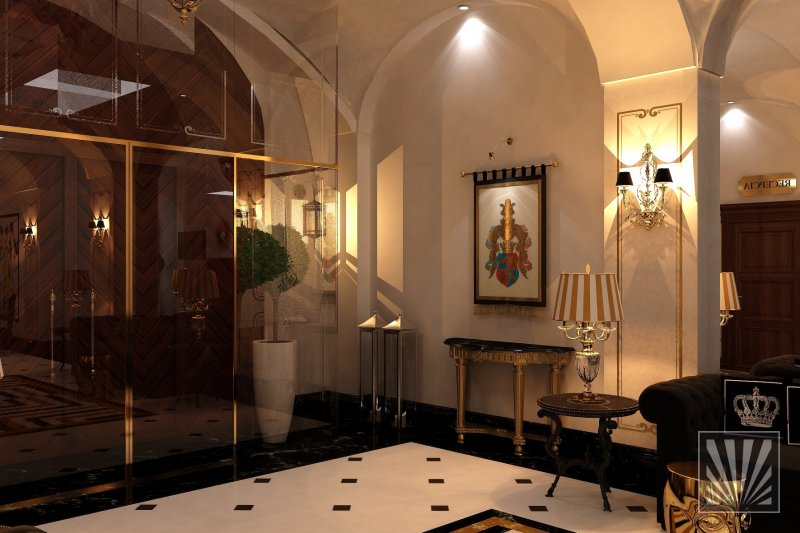 Real beauty interior design s r o hotel foyer chateau for Hotel foyer decor